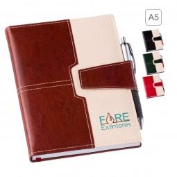 Agenda porta caneta personalizada