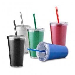 Copo Plástico Com Canudo 550ml CO8700
