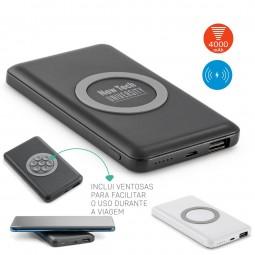 Carregador Power Bank Wireless personalizado Azofi