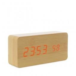 Relógio de Madeira com Display LED 18563